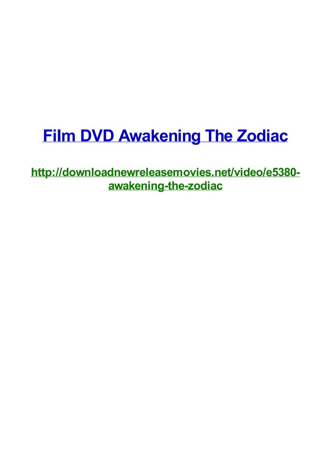 Film Dvd Awakening The Zodiac By Frank Seamons Issuu
