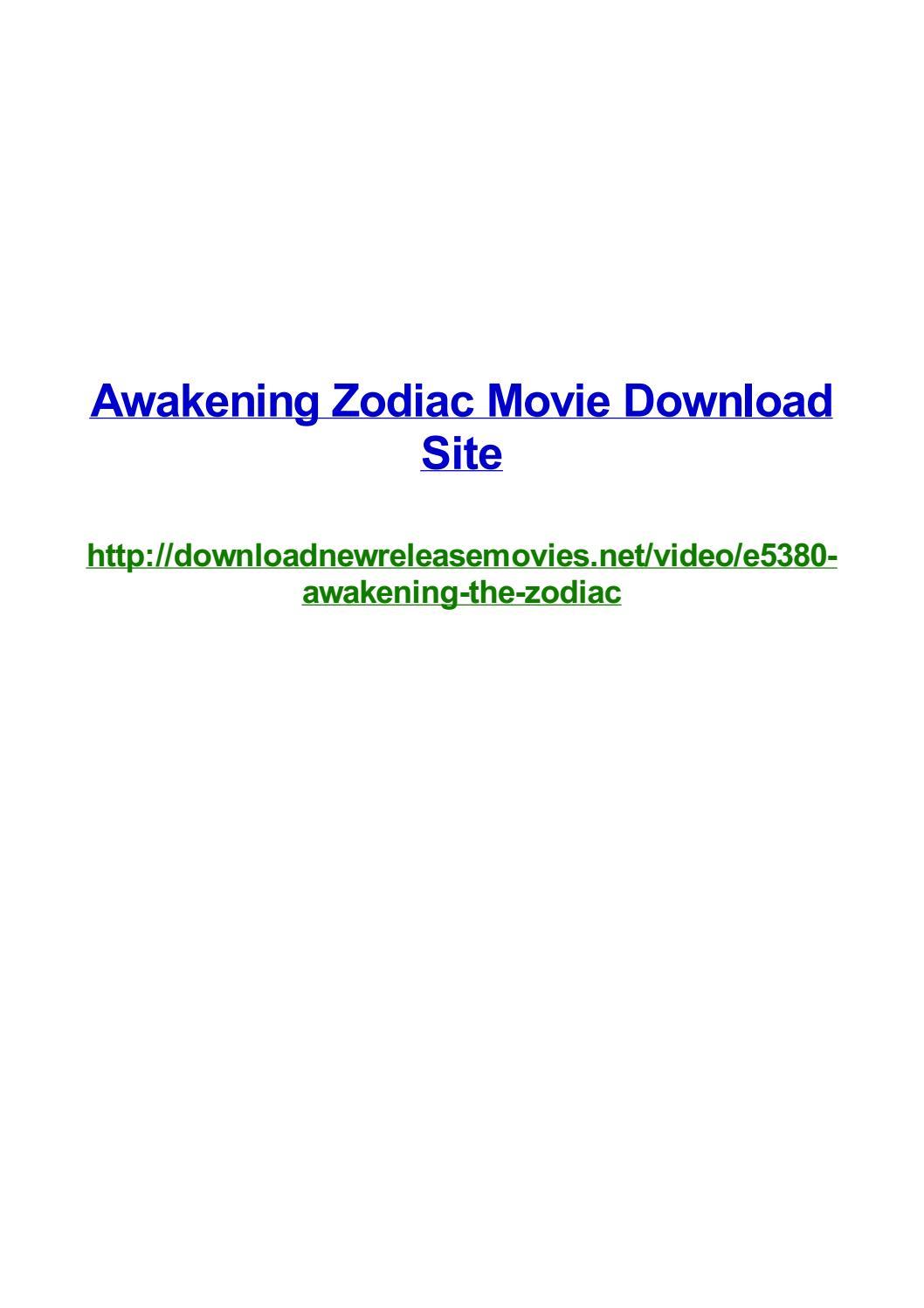Awakening Zodiac Movie Download Site By Frank Seamons Issuu