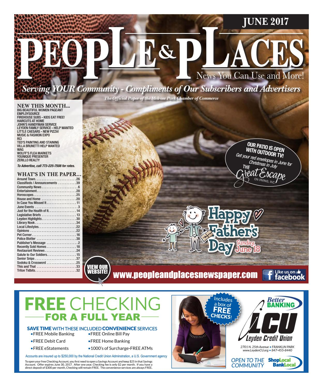 June 2017 People Places Newspaper By Jennifer Creative
