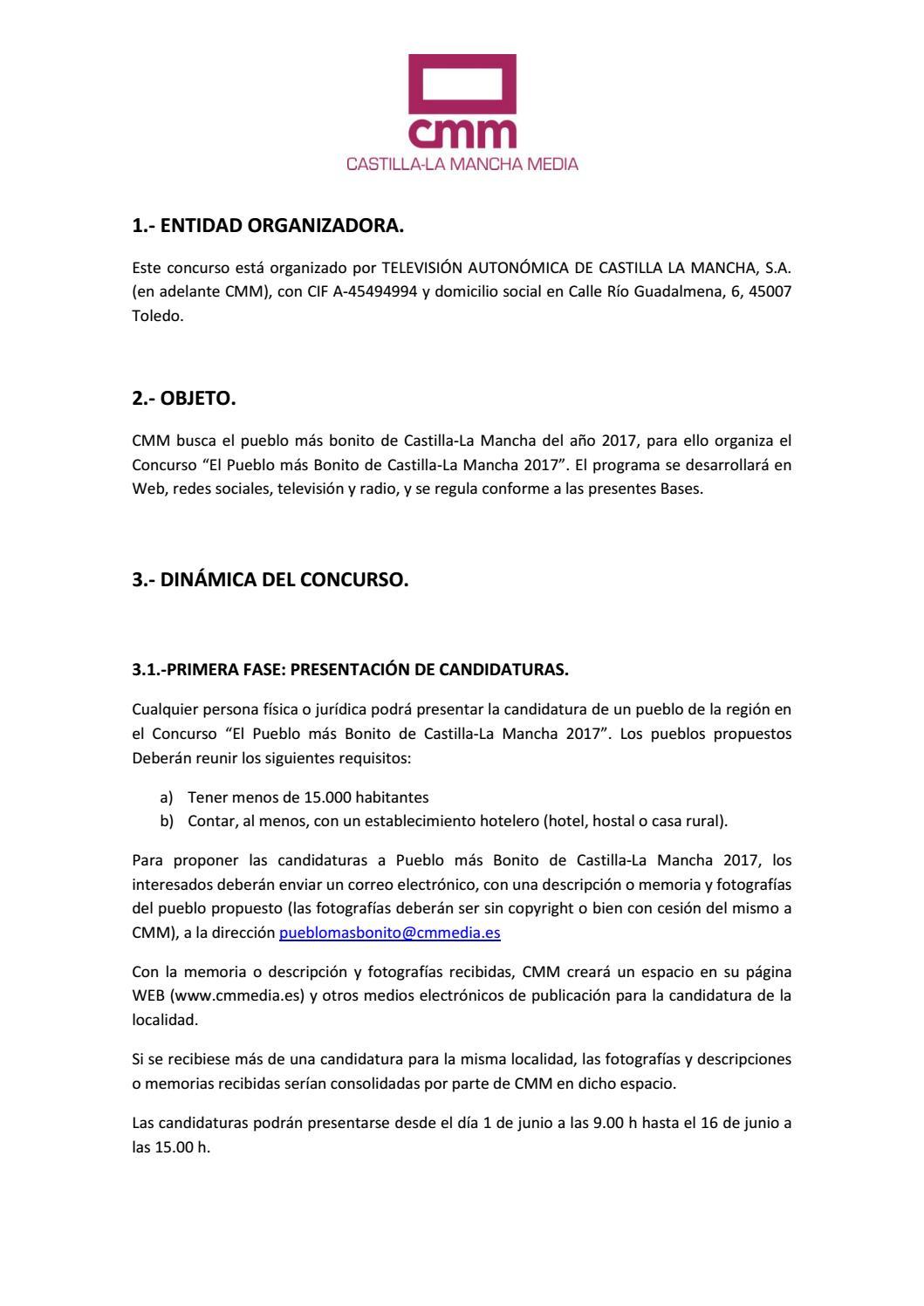 Bases el pueblo m s bonito de castilla la mancha 2017 cmm by pedro casas issuu - Requisitos para montar una casa rural ...