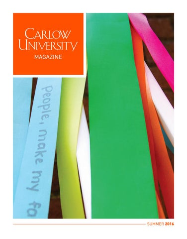 Carlow Campus Map.Carlow University Magazine Summer 2016 By Carlow University Issuu