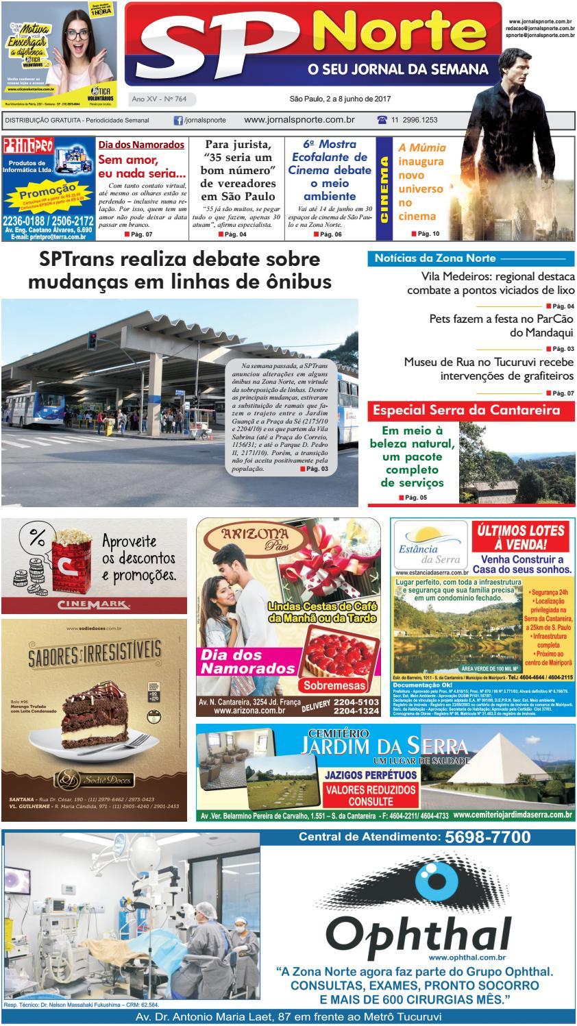 719a960a3f0 Edição 764 - 2 a 8 de junho de 2017 by Jornal SP Norte - issuu