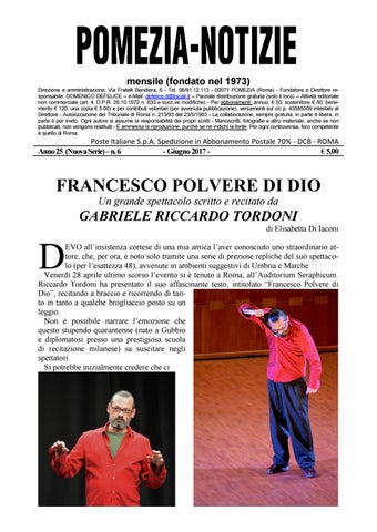 Pomezia Notizie 2017 6 by Domenico - issuu e54ea2ce6a2