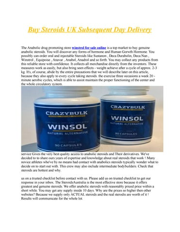 winstrol for sale online by submissionn - issuu