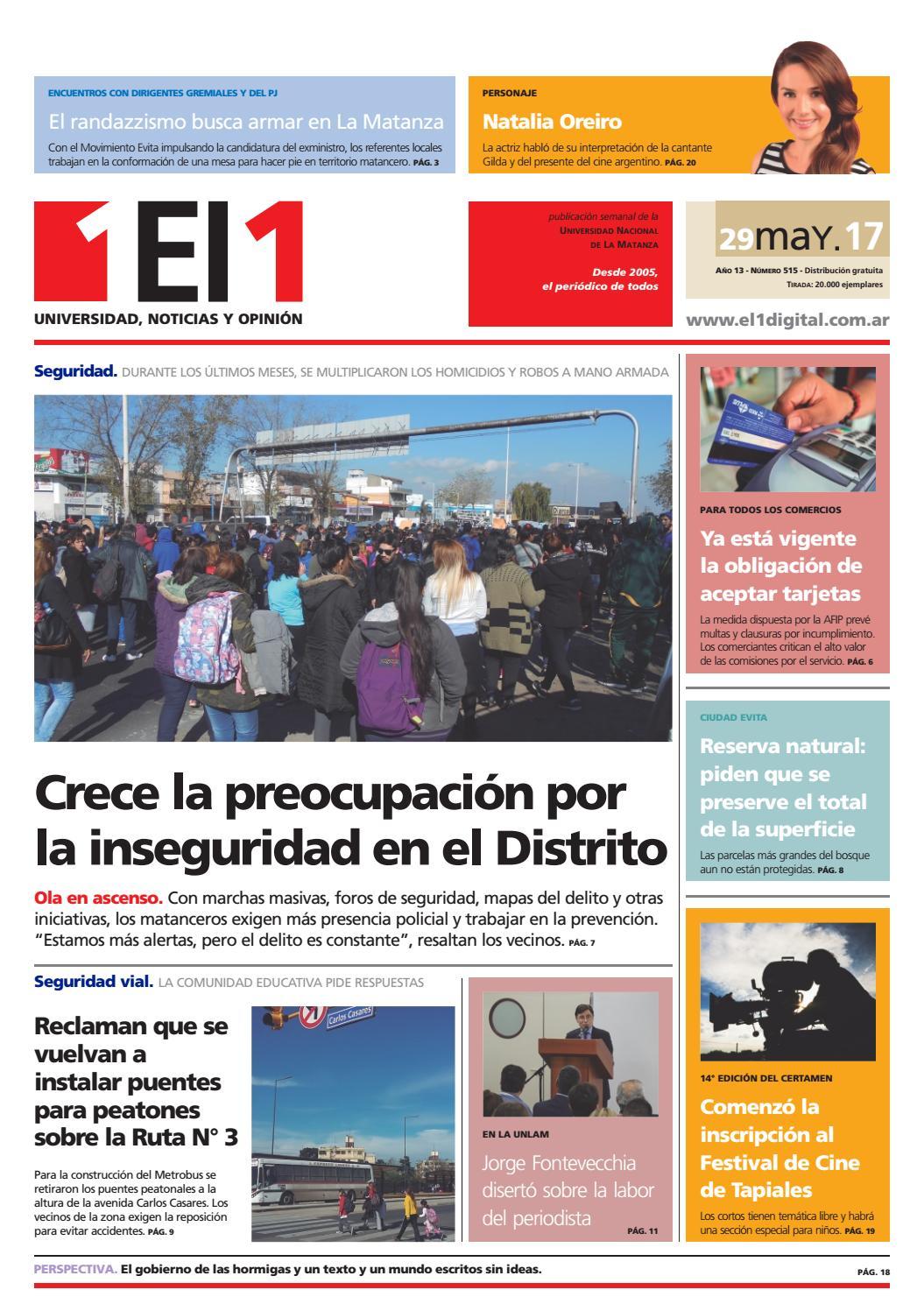 Edición Nº 515 by Periódico El1 - issuu