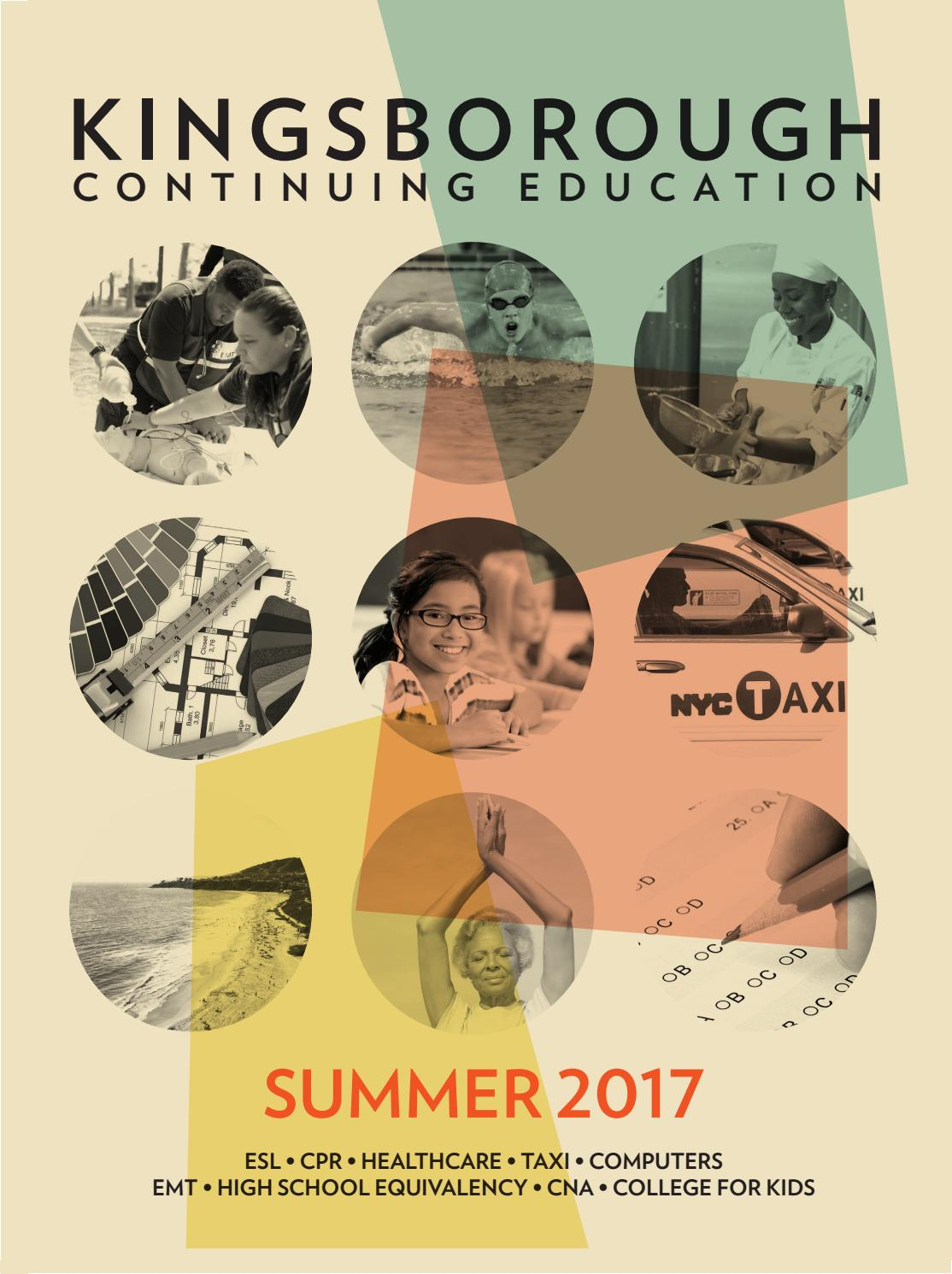 Continuing Education Summer 2017 by Kingsborough Office of ...