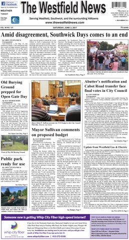Saturday June 3 2017 By The Westfield News Issuu