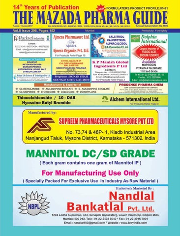 The Mazada Pharma Guide 1st to 15th June 2017 by The Mazada