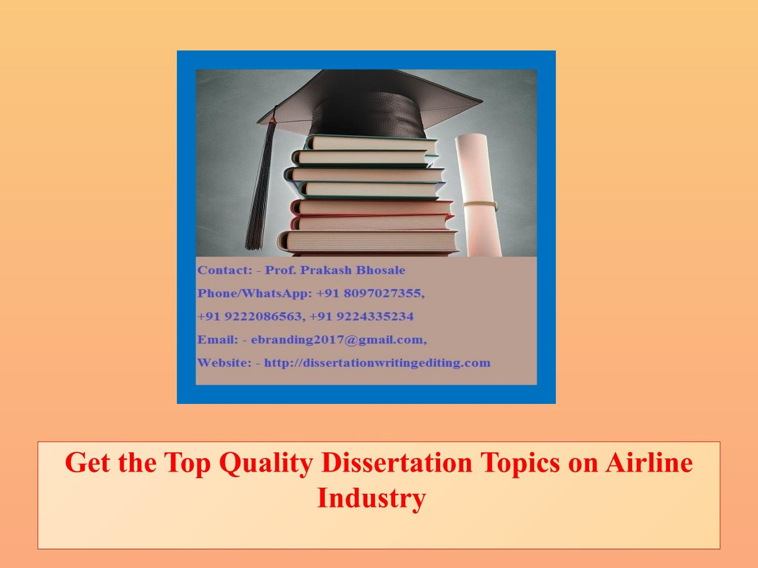 Dissertation on airline industry