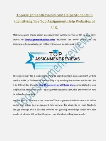 top assignment websites