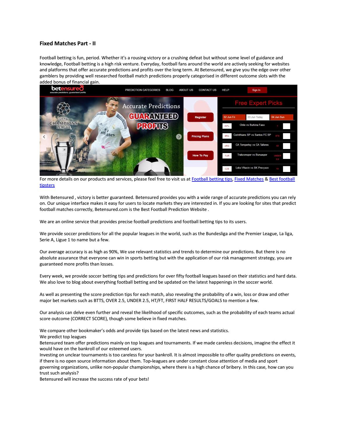Fixed matches part ii by betensured - issuu
