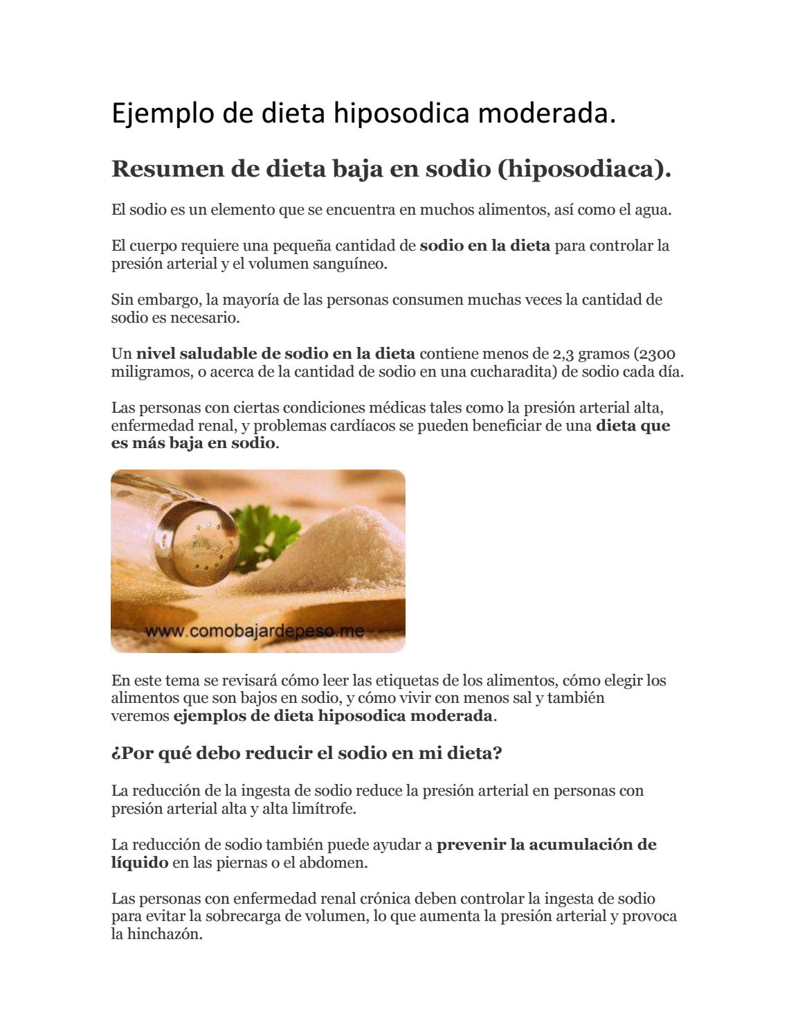 dieta hiposodica hipertension arterial