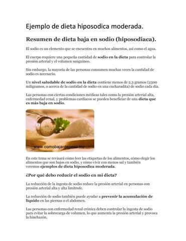 diete hiposodica