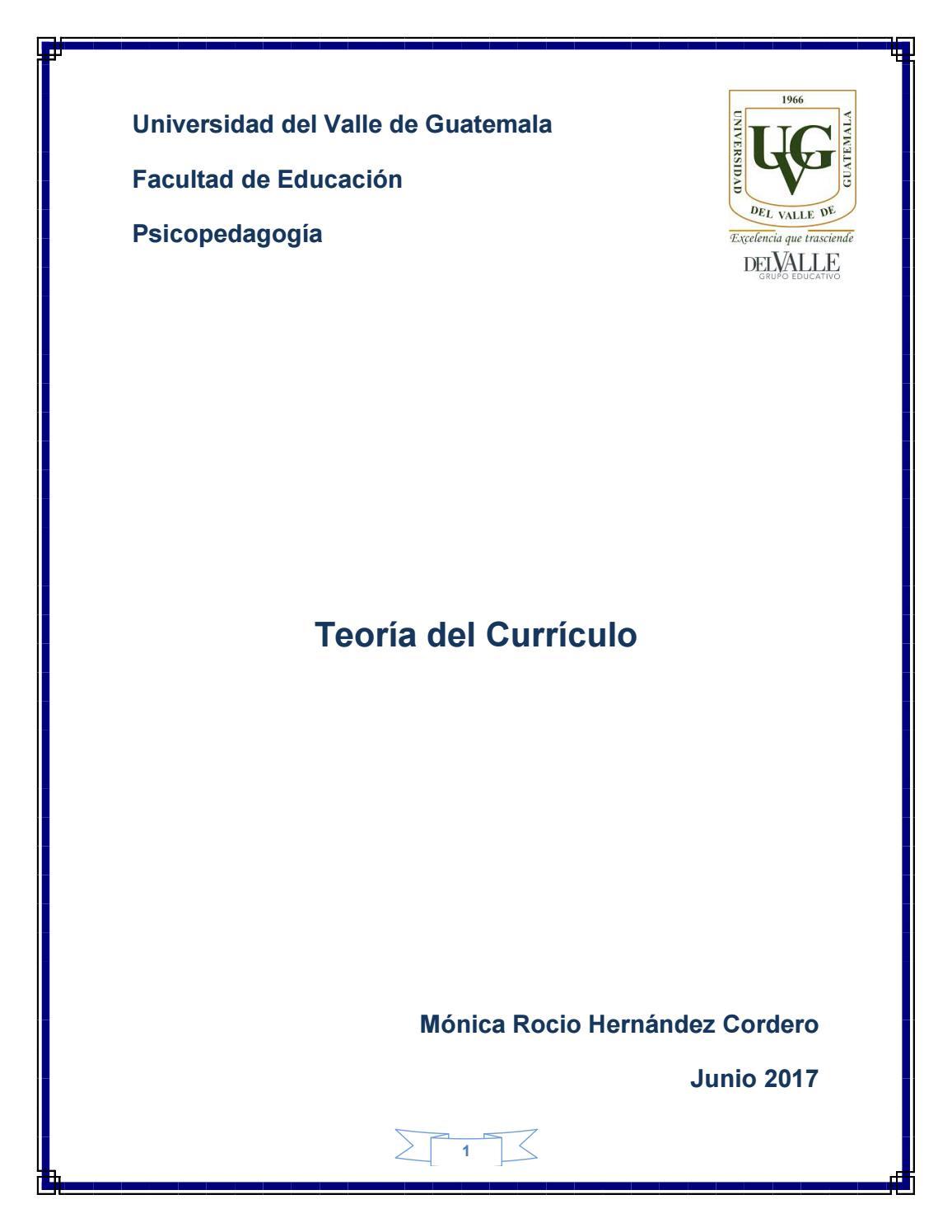 Libro teoría del currículo by Monica Rocio - issuu