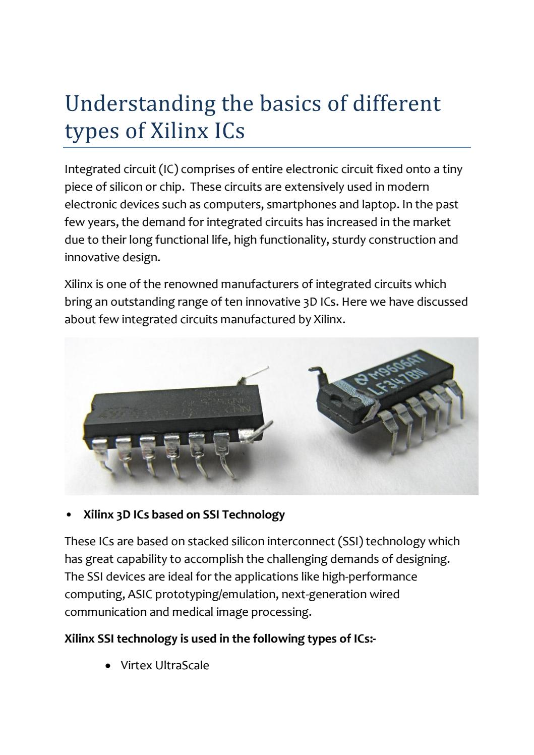 Understanding The Basics Of Different Types Xilinx Ics By Express Integrated Circuit Circuits Design Technology Group Issuu