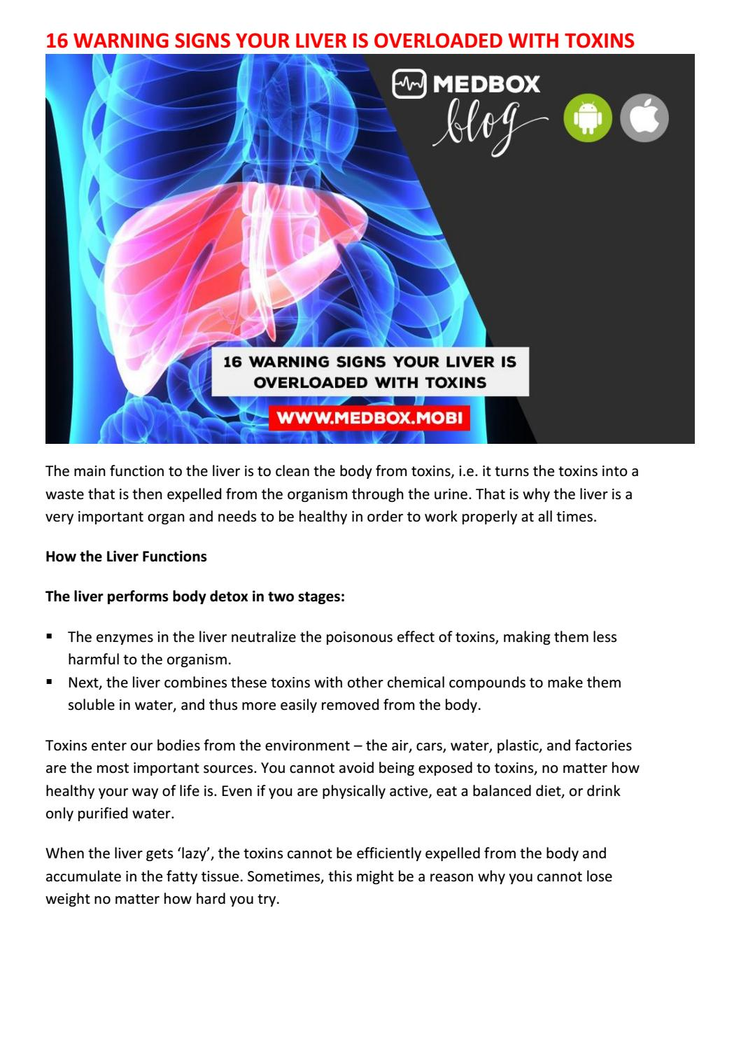 16 Warning Signs Your Liver Is Overloaded With Toxins By Sameerk Issuu