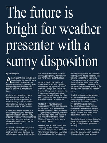 Page 66 of The future is bright for weather presenter with a sunny disposition