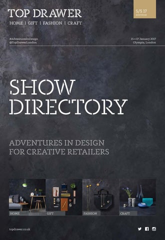 Top Drawer Spring 2017 by Upper Street Media - issuu on