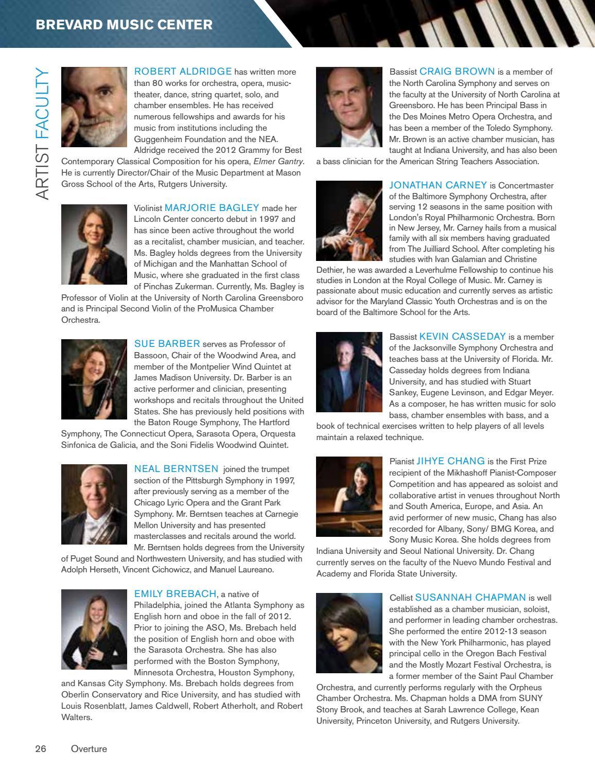 2017 BMC Overture Magazine by Brevard Music Center - issuu