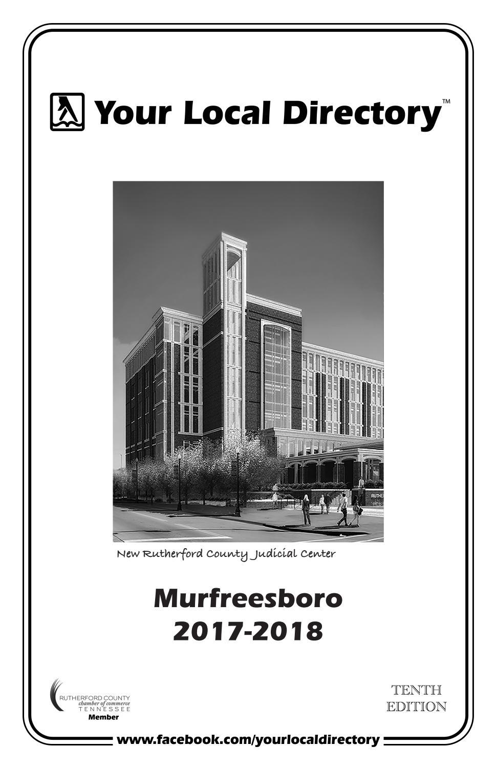 Murfreesboro 2017 2018 By Your Local Directory Issuu