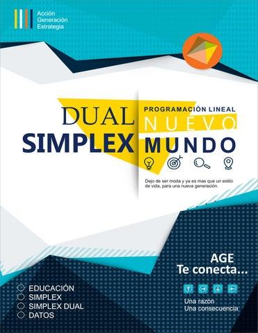 Dual Simplex - Programación Lineal by Andres Diaz Mendez - issuu