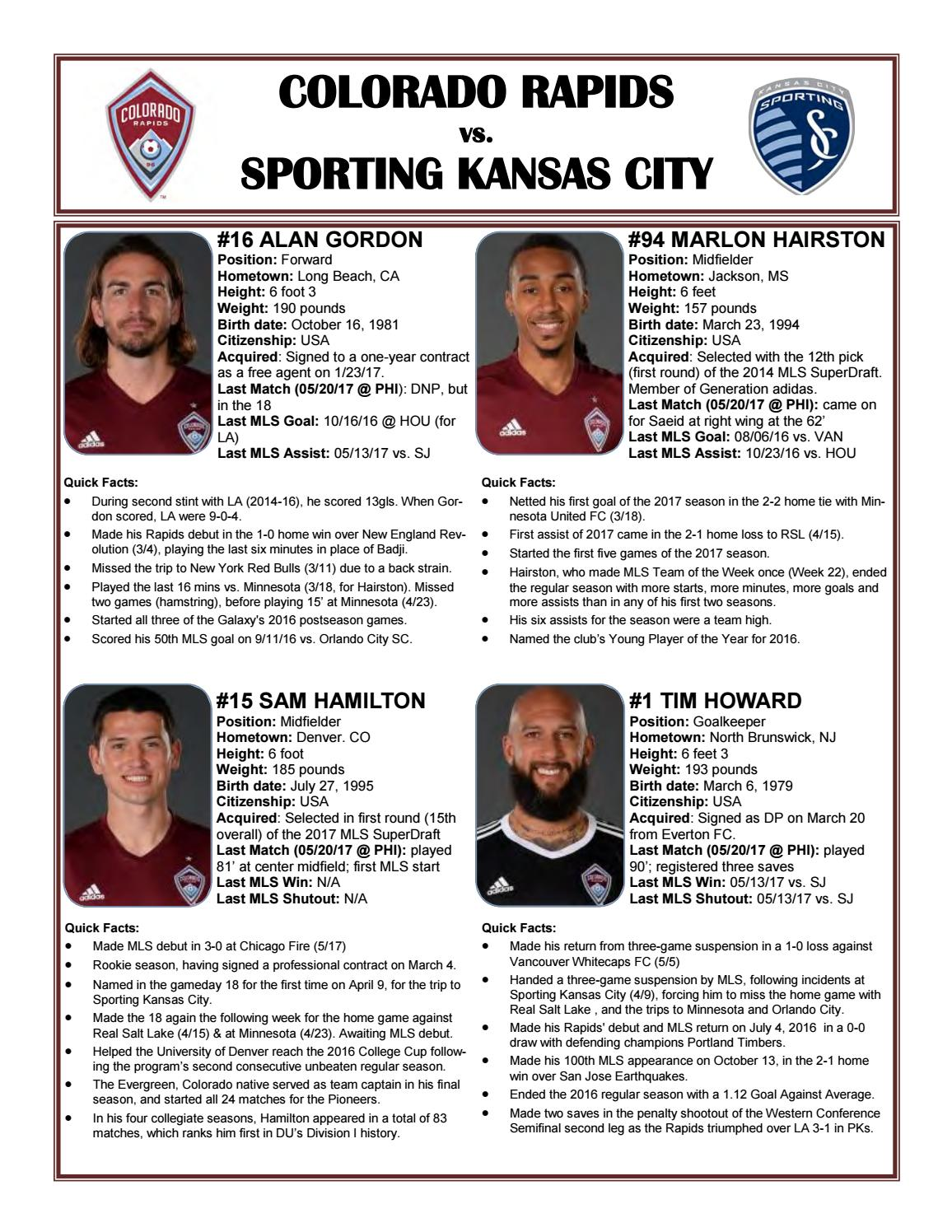 Game Guide: Sporting KC at Colorado Rapids by Sporting