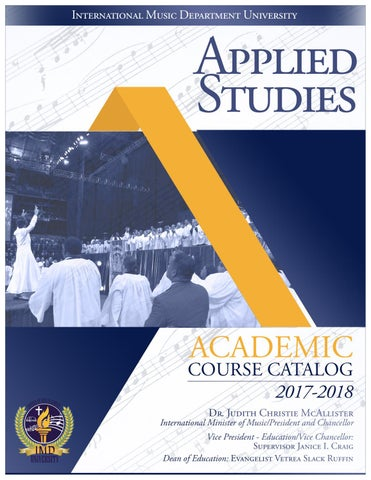 IMDU APPLIED STUDIES INSTITUTE 2017 by Ron Briggs - issuu