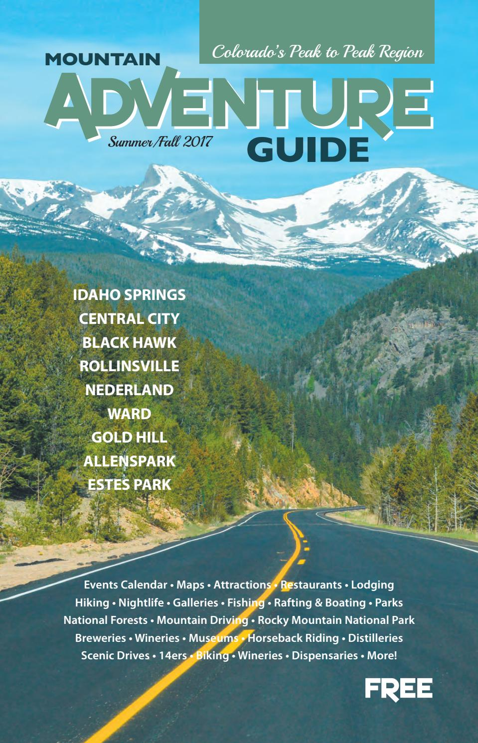 Mountain Adventure Guide - Peak to Peak: Summer/Fall 2017 by