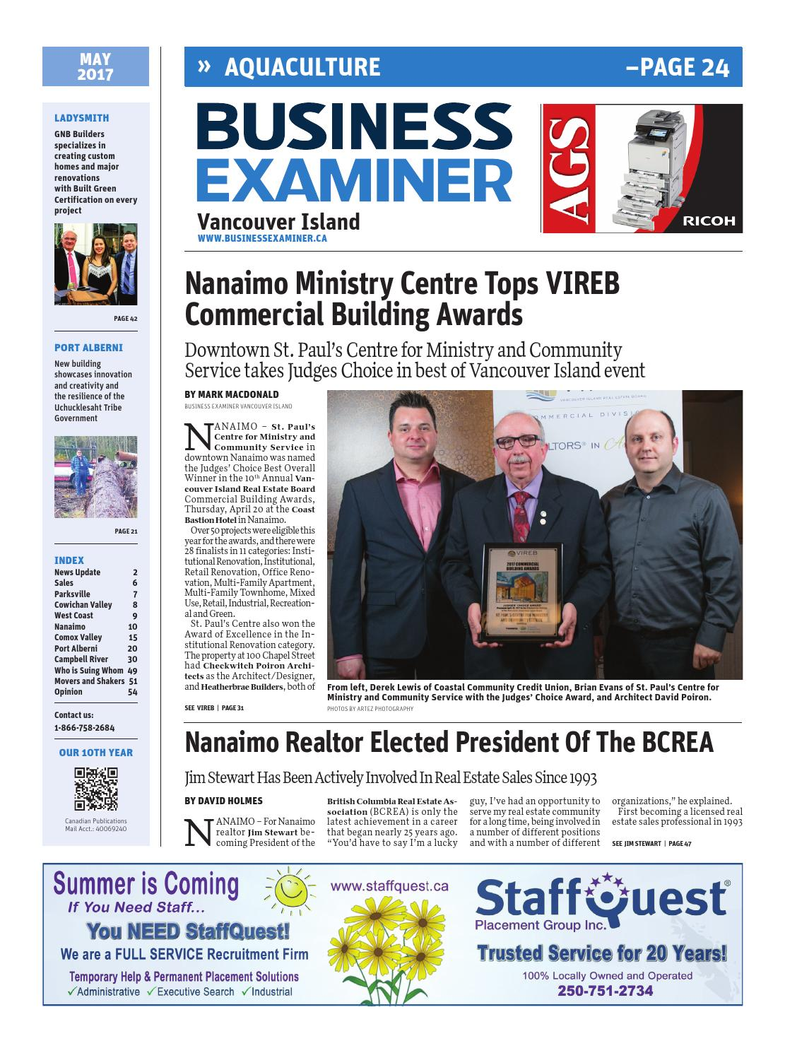 51efef6d3 Business Examiner Vancouver Island - May 2017 by Business Examiner Media  Group - issuu