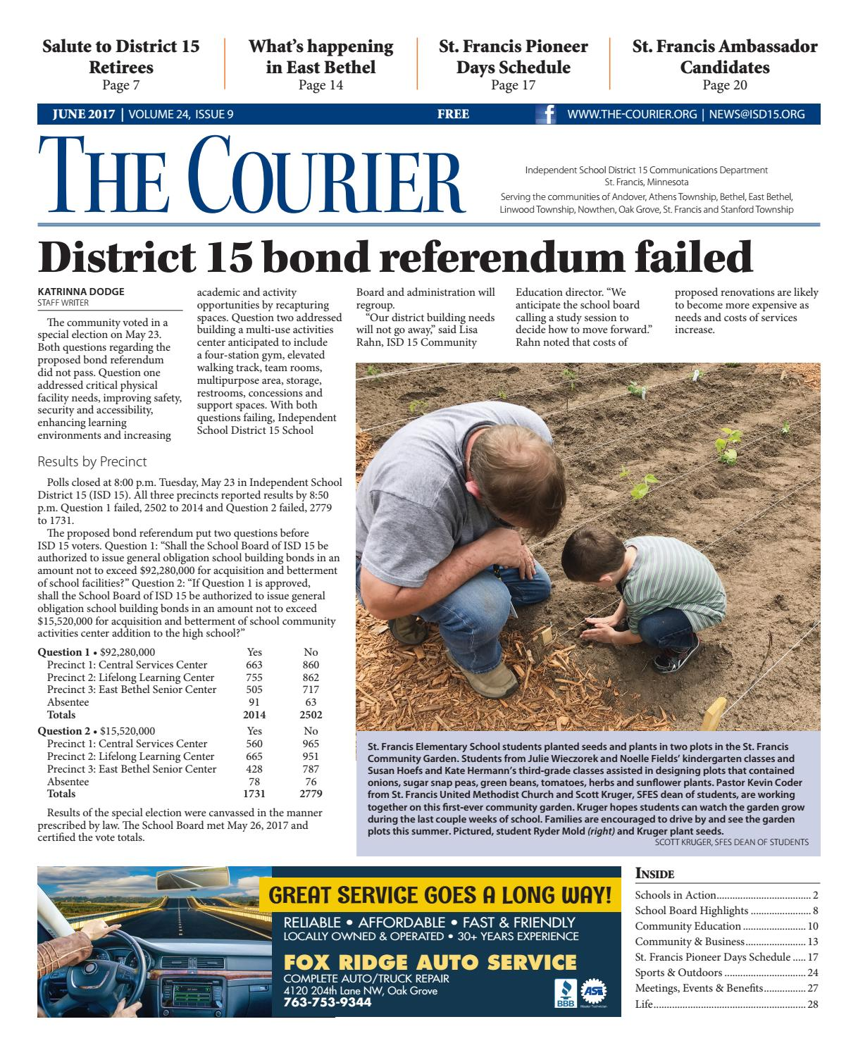 8336e0eb62 The Courier - June 2017 by St. Francis Area Schools - issuu