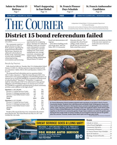 The Courier June By St Francis Area Schools Issuu - Courier invoice format excel american girl doll store online
