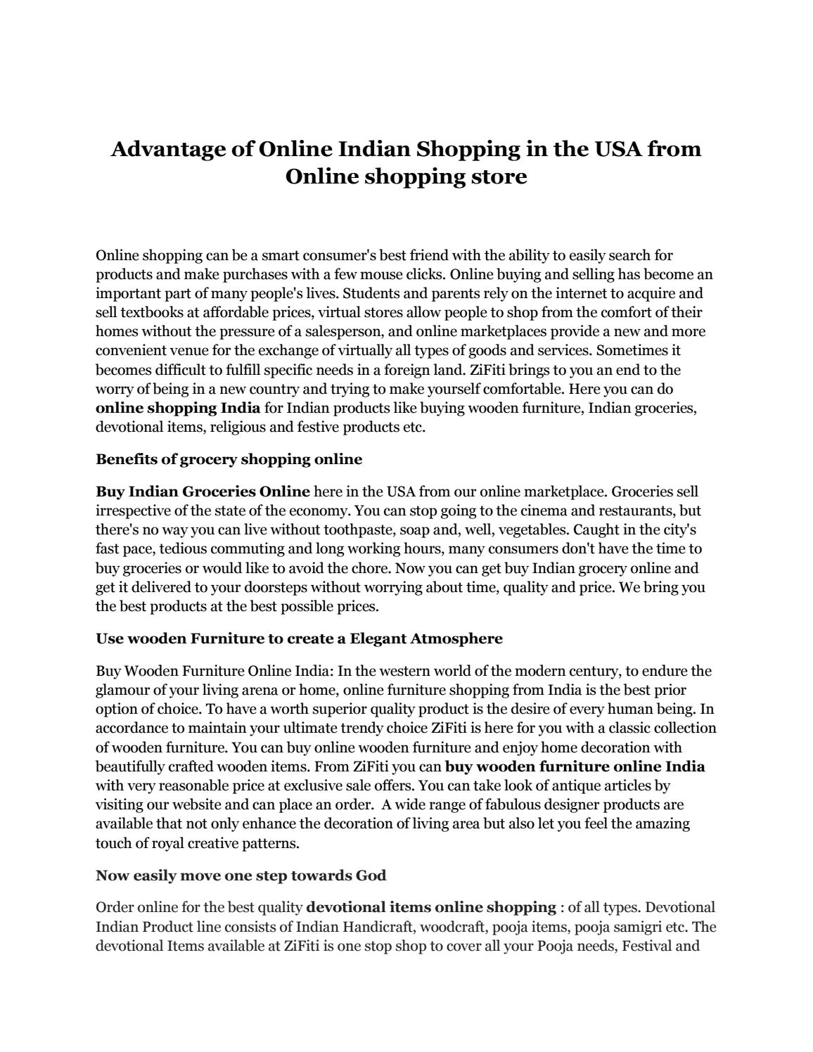 Advantage of online indian shopping in the usa from online