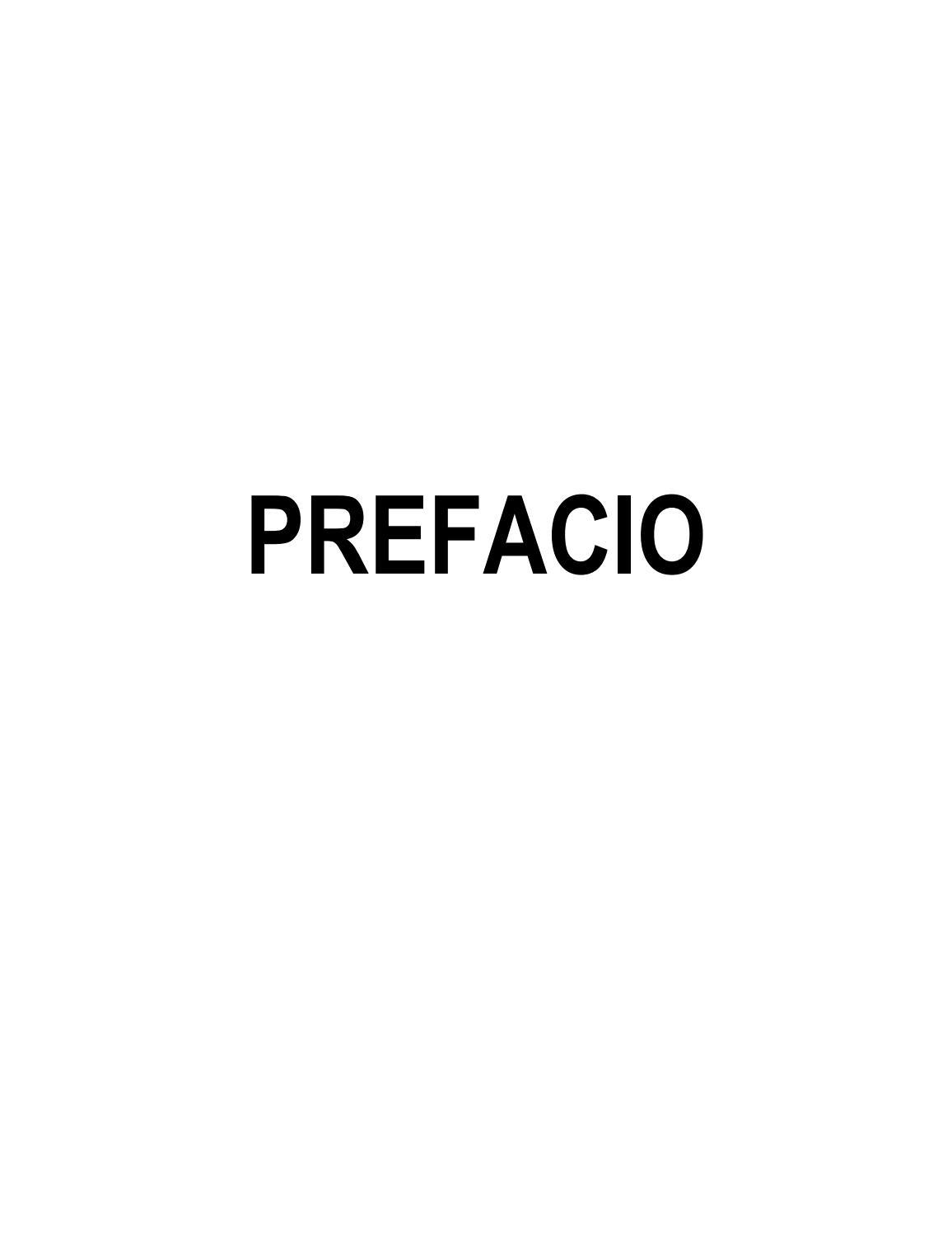 Prefacio\