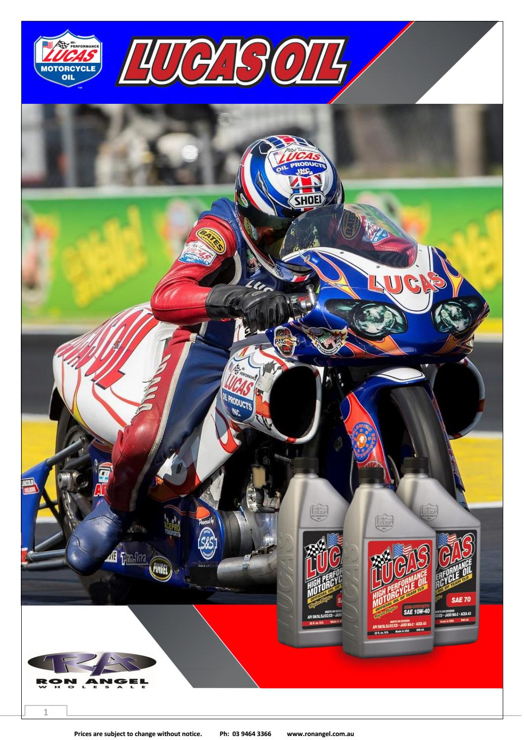 LUCAS OIL by Ron Angel - issuu