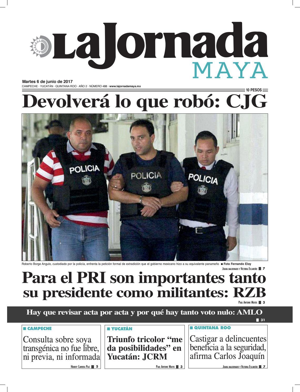 ca084ed0b3d La Jornada Maya · Martes 6 de junio
