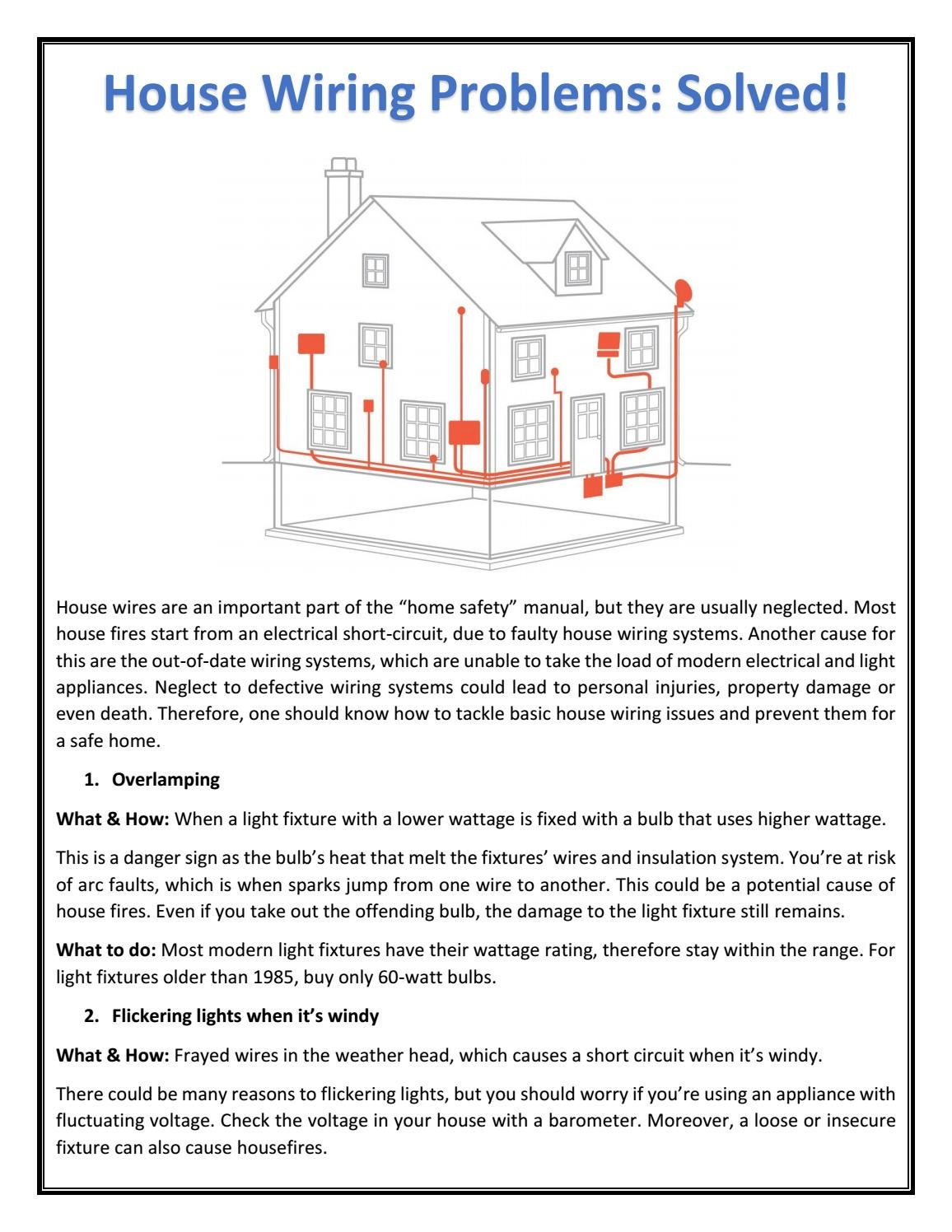 House Wiring Problems Solved By Ultracab Issuu A Modern Light
