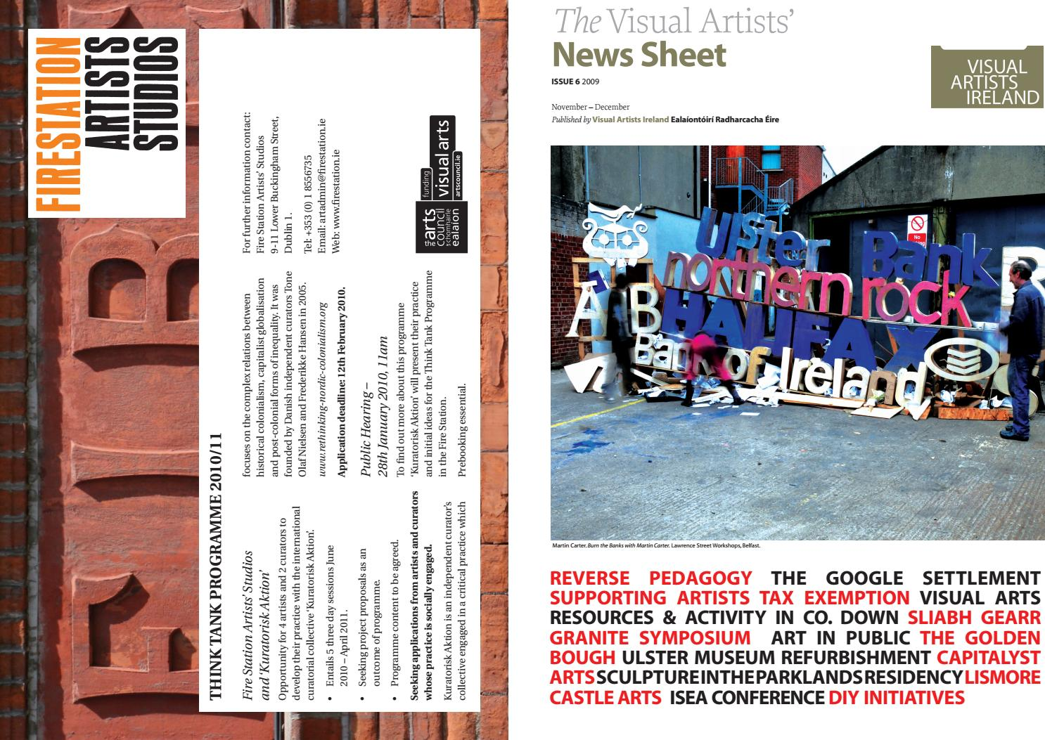f781bd682984 Visual Artists  News Sheet - 2009 November December by ...