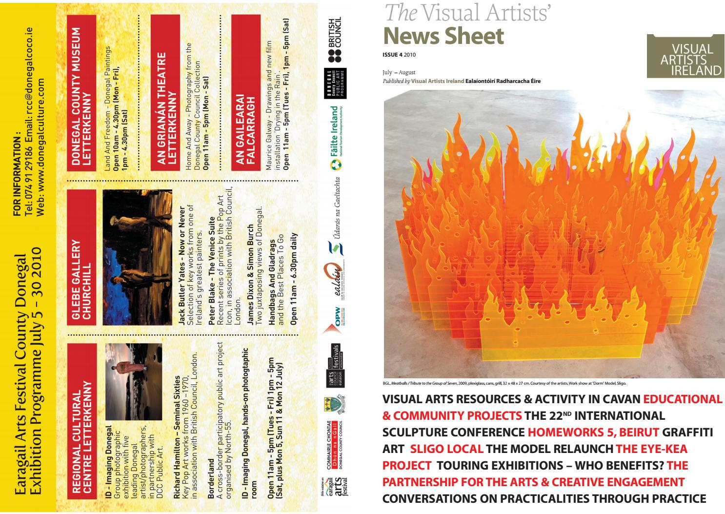 Visual Artists News Sheet 2010 July August By  # Table Tele En Boi Simple