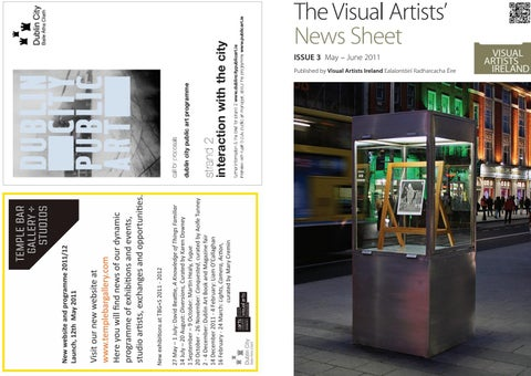 7abc911cb59 Visual Artists  News Sheet - 2011 May June by VisualArtistsIreland ...