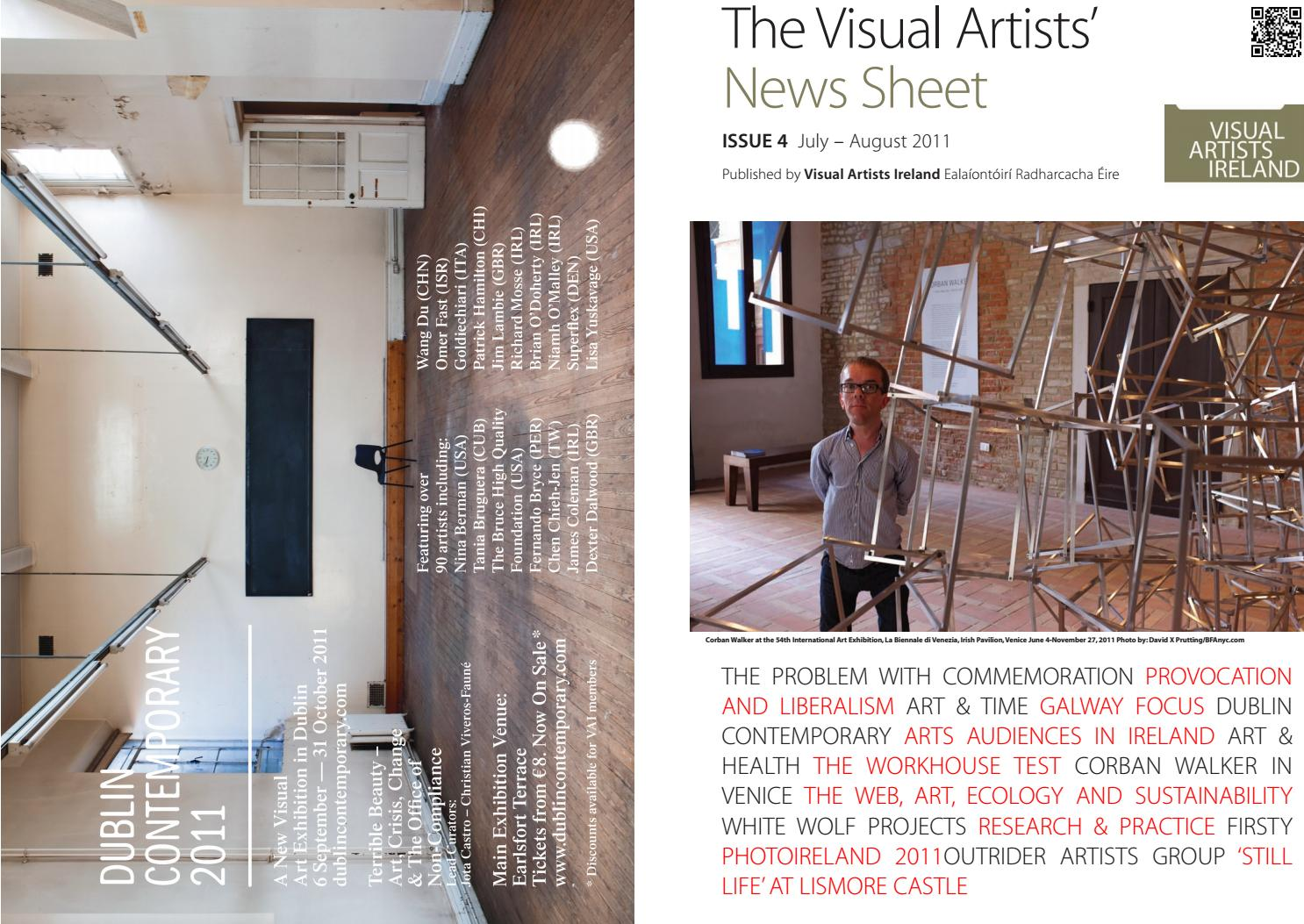 2663881653 Visual Artists  News Sheet - 2011 July August by VisualArtistsIreland -  issuu