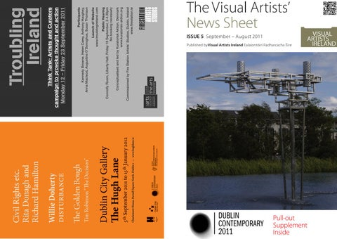 1ae51fc085d The Visual Artists  News Sheet issue 5 September – August 2011 Published  byVisual Artists Ireland Ealaíontóirí Radharcacha Éire