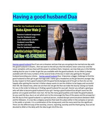 Having a good husband dua by allworld no1astrologer - issuu