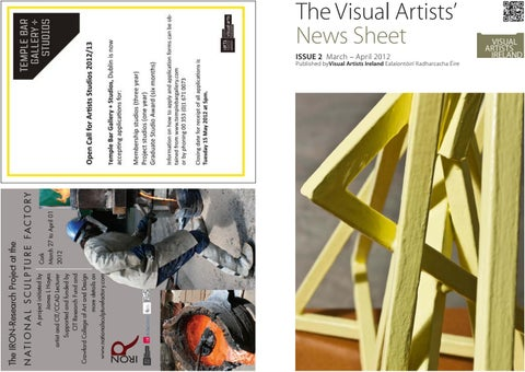 ac4a09f053 Visual Artists  News Sheet - 2012 March April by ...