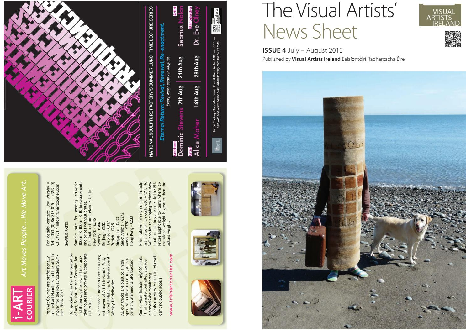 Visual Artists News Sheet 2013 July August By