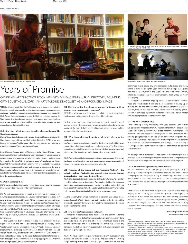 Visual Artists' News Sheet - 2014 May June by