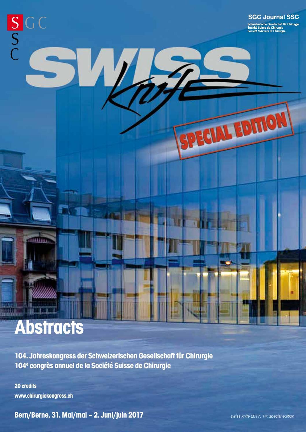 Swiss Kinfe Special Edition Chirurgiekongress Bern 2017 by MetroComm ...
