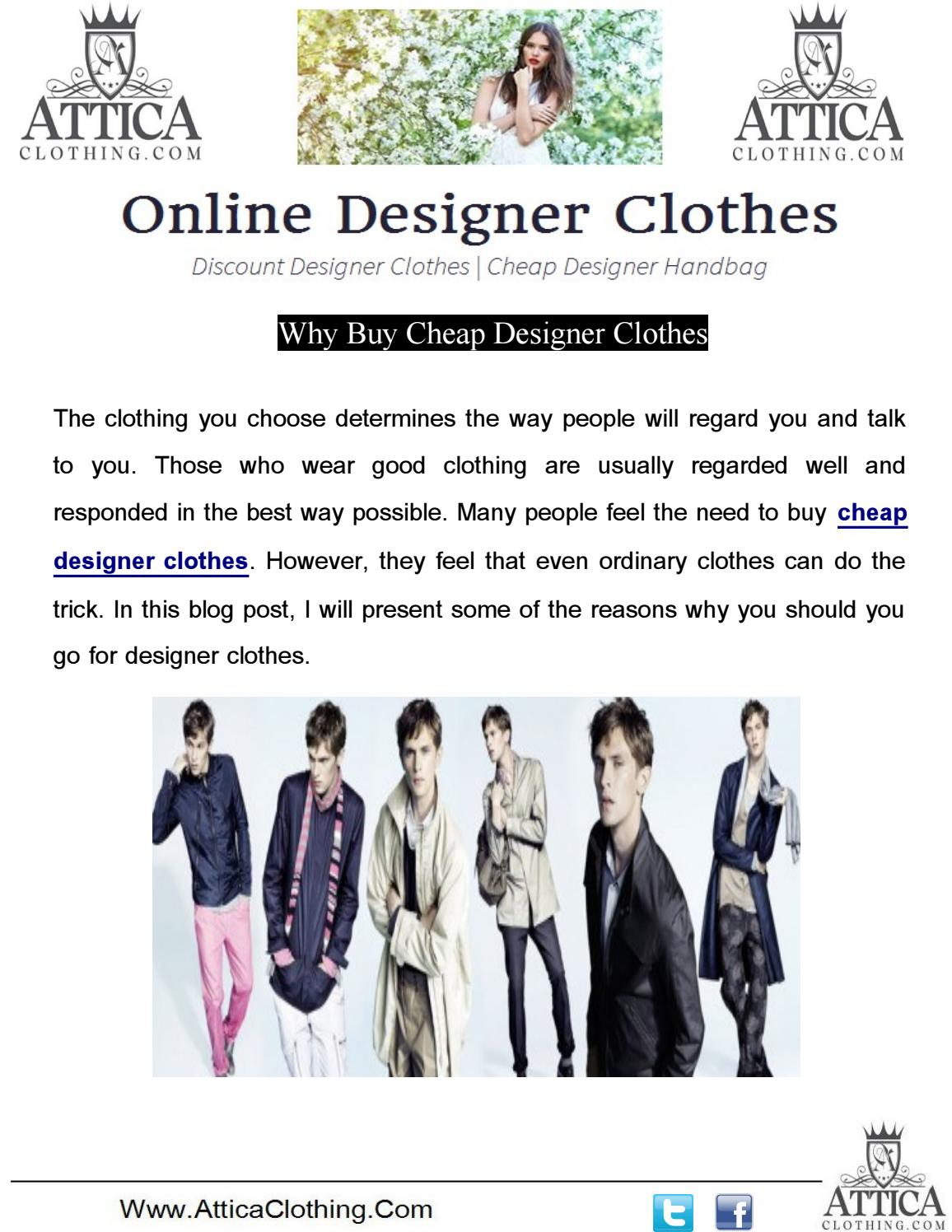 Buy Cheap Designer Clothes | Why Buy Cheap Designer Clothes By Cheap Designer Purses Issuu