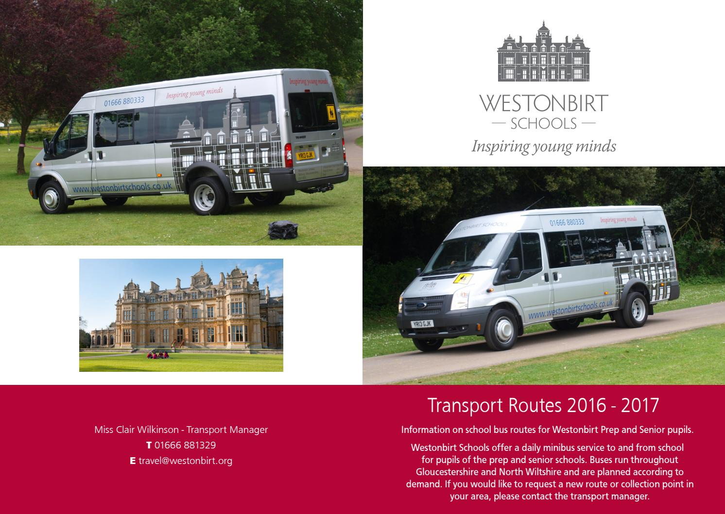 Westonbirt bus route by Westonbirt School - issuu
