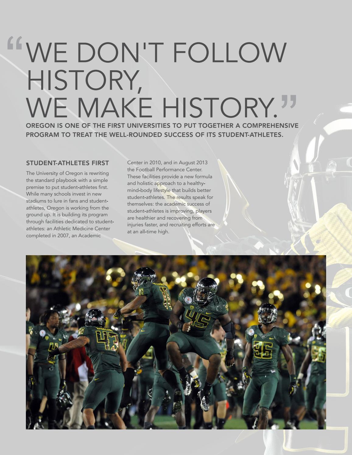 University of Oregon, Hatfield-Dowlin Complex, Football Performance