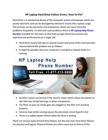 HP Laptop Hard Drive Failure Errors- How To Fix? by HP Technical